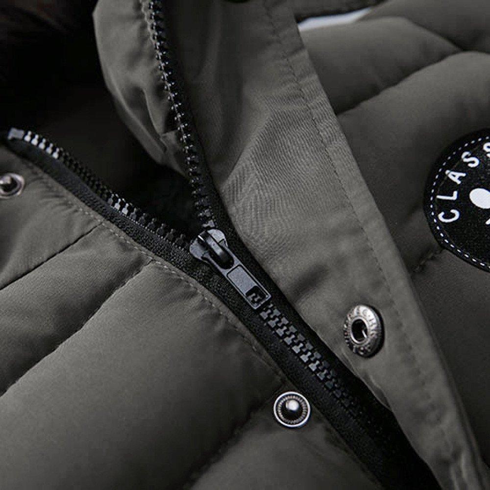YanHoo Chaqueta con Capucha Acolchada de algodón para niños Niños de la Moda Abrigo niños niñas Abrigo Grueso Acolchado Chaqueta de Invierno Ropa Algodón ...