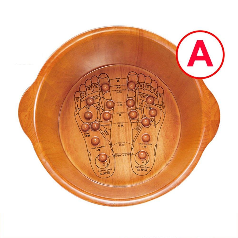 ZHANGRONG- フットバス バレル 足浴槽 フットバスバレル 鍼治療のポイント マッサージ フットバス 桶 厚い バブル盆地 バレル 家庭 (色 : A-2) B07DYQFSJT A-1  A-1