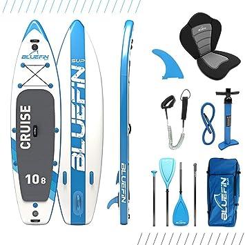 Paquete de Sup Bluefin Cruise | Tabla de Paddle Surf Hinchable | Remo de Fibra de Vidrio | Kit de Conversión a Kayak | Accesorios Completos | Varias ...