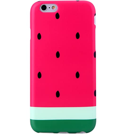 sports shoes 39e43 515eb iPhone 6 Case for Girls,iPhone 6s Case,VIVIBIN Cute Pink Green Watermelon  Design for Women Clear Bumper Best Protective Soft Silicone Rubber Matte  TPU ...