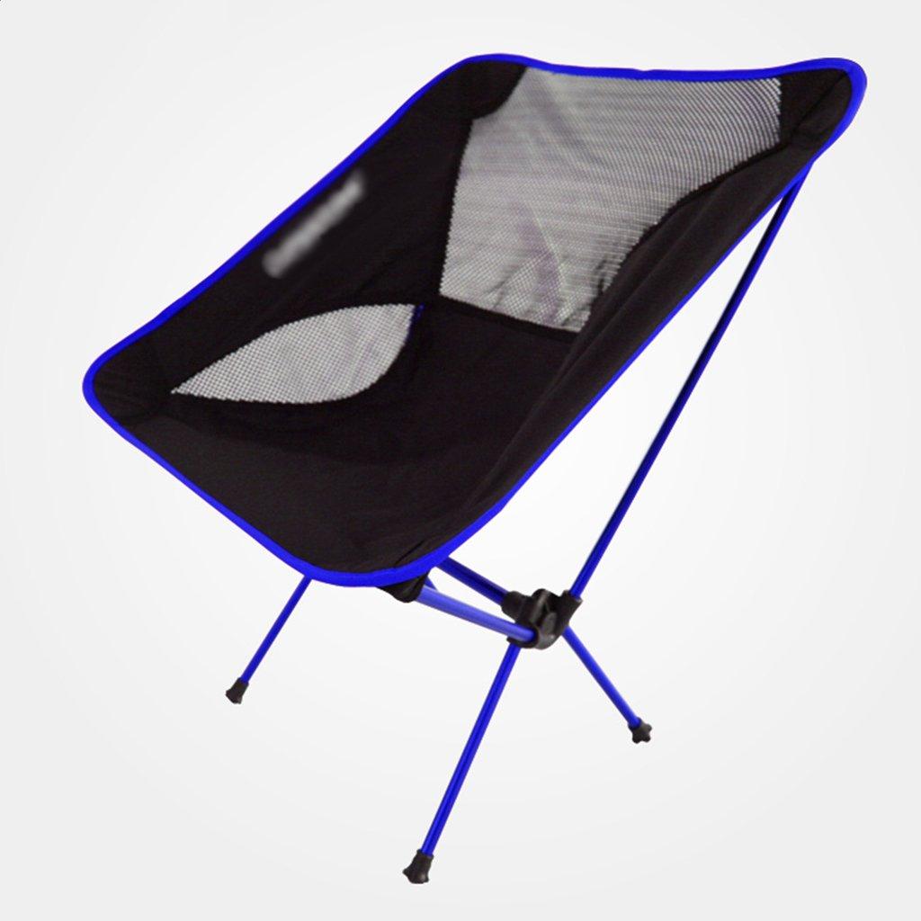 ZGL 旅行椅子 屋外超軽量ポータブルアルミ合金折り畳み式ムーンチェア多目的釣り車(レイジーチェアカラー付) ( 色 : 青 ) B07C77GGN5 青 青
