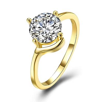 Anillo de diamante elegante, anillo de compromiso, anillo de moda, joyería romántica,