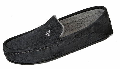 Pantuflas Dunlop estilo mocasín para hombre con forro de piel de oveja sintética: Amazon.es: Zapatos y complementos