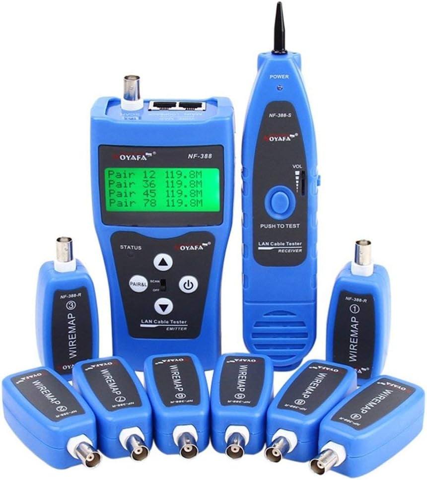 RJ11 KOLSOL Testeur de c/âble r/éseau NF-8601W RJ45 LAN Testeur de c/âble r/éseau pour RJ45 BNC PING//POE 8 Identificateur de fil t/él/éphonique