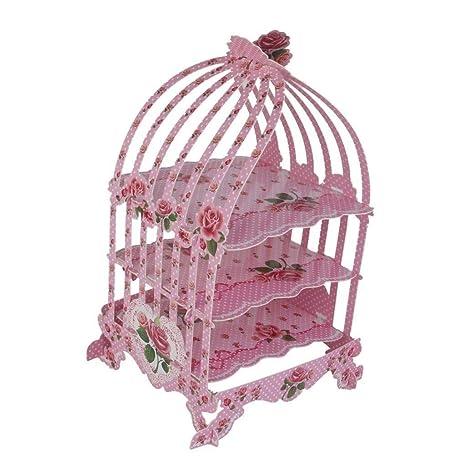 Trimming Shop Vintage Rosa Jaula Soporte Cupcakes - Británico ...