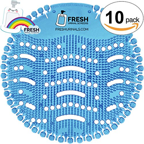 Urinal Screen Deodorizer (10 PACK) - Scent Lasts for Up to 5000 Flushes – Anti-Splash & Odor Neutralizer – Ideal for Bathrooms, Restrooms, Office, Restaurants, Schools – Ocean Mist Fragrance