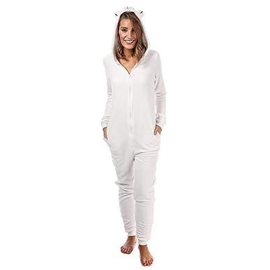 38a9d30eff2a Amazon.com  Brave Soul Women s Polar Bear Onesie 10 White  Brave ...