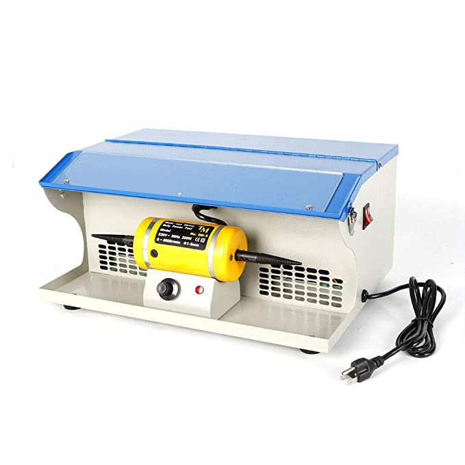 Amazon.com: HYYKJ Bench Top Polisher Polishing Buffing ...