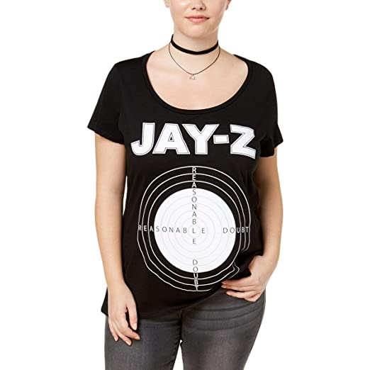 d6441a0ce Image Unavailable. Image not available for. Color: Reasonable Doubt Womens  Plus Jay-z Short Sleeves Graphic T-Shirt ...