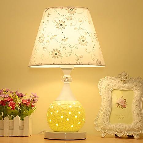 HM&DX Lámpara de cabecera cerámica,Moderna mesa lámparas ...