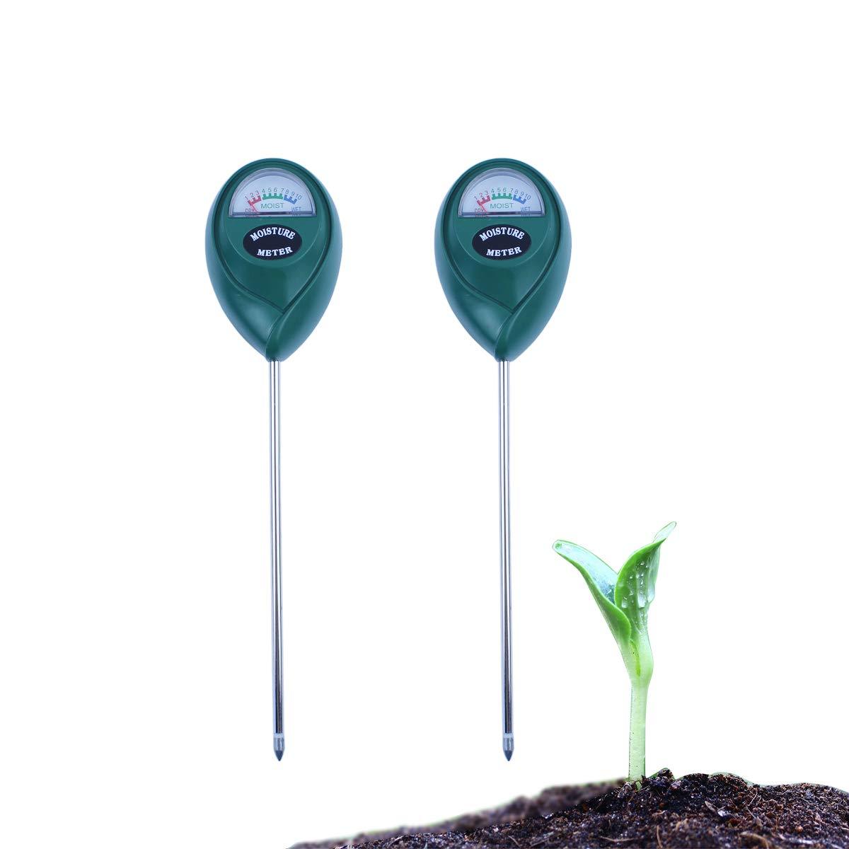 Cube 2 Pack Keine Batterie erforderlich Rasenpflanzen drinnen und drau/ßen Bodenfeuchtigkeitssensor f/ür Garten Bauernhof