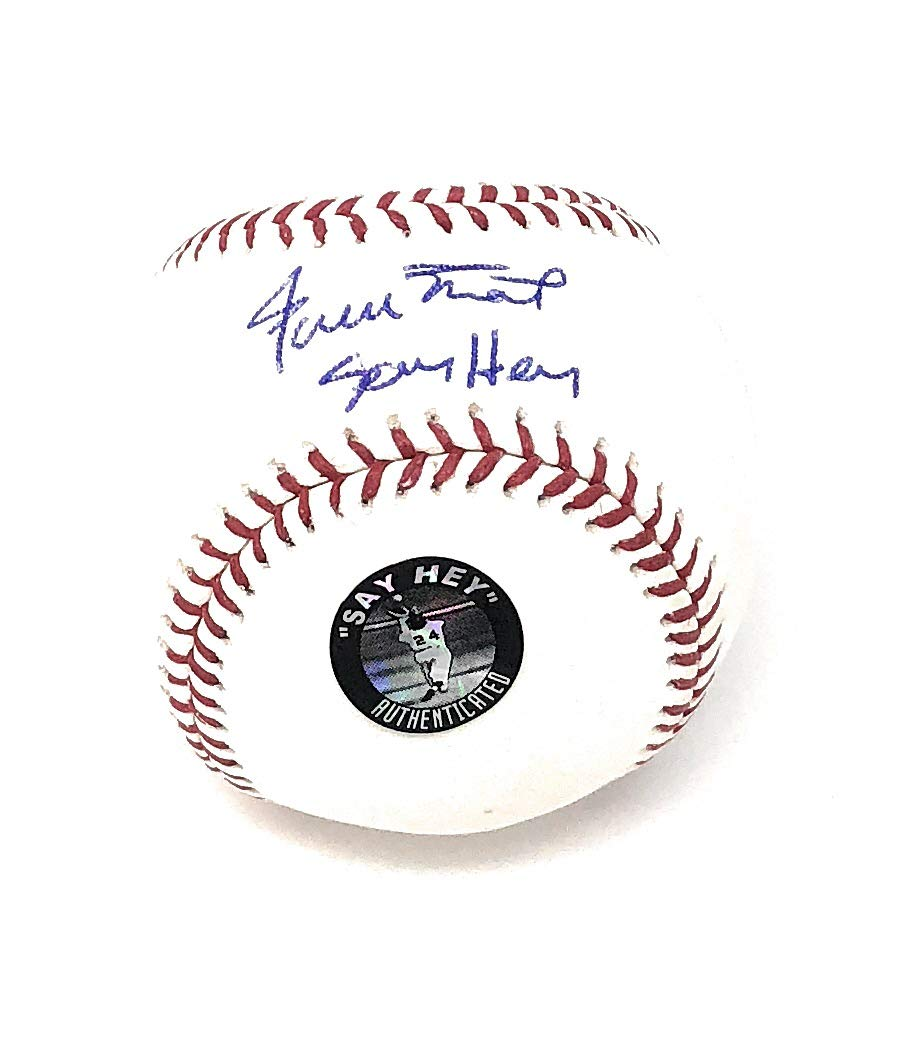 Willie Mays San Francisco Giants Signed Autograph Official MLB Baseball INSCRIBED SEY HEY MAYS Sey Hey Hologram Certified