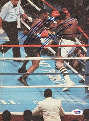 Mike Tyson Autographed Signed Magazine Page Photo Vintage Q65659 PSA/DNA Certified Autographed Boxing Magazines