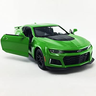 2020 Chevrolet Chevy Camaro ZL 1 Green Color Kinsmart 1:38 Die-Cast,Model,Toy,Car,Collectible,Collection: Toys & Games