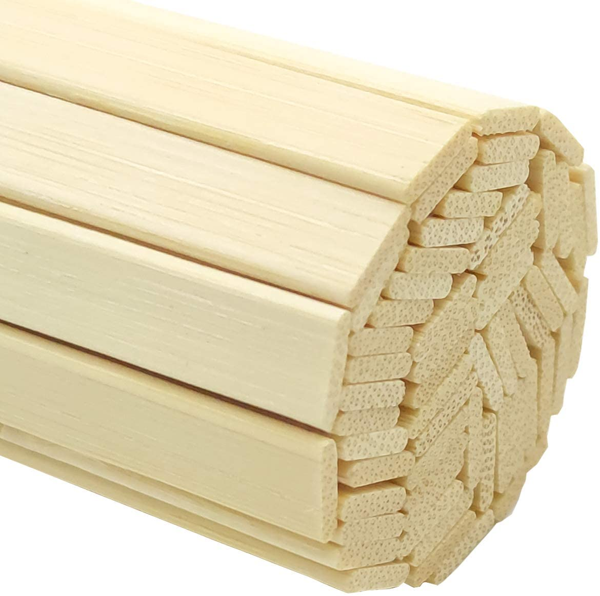 Worown 120 pcs 15.7 Inch Strong Natural Bamboo Sticks, Wooden Craft Sticks, Extra Long Sticks, Wood Strips for Craft Projects, 3/8 Inch Width
