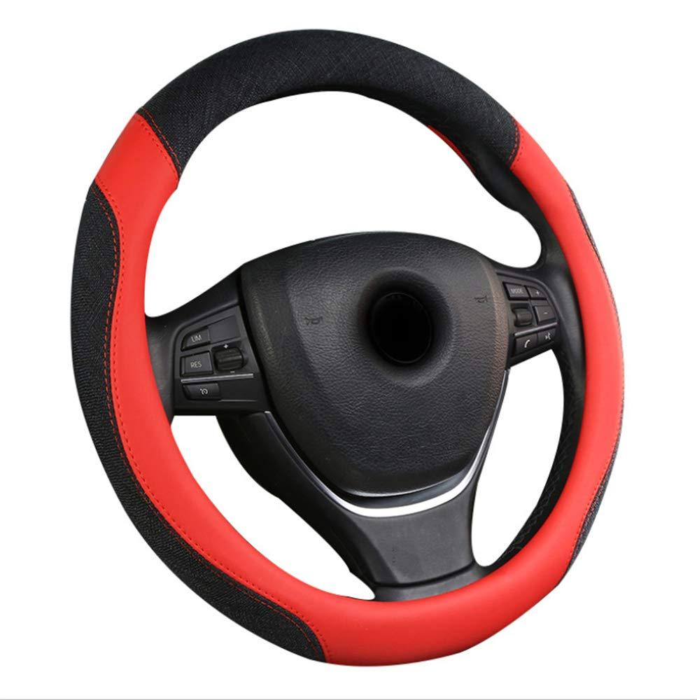 Four Seasons Car Steering Wheel Set Universal Summer Ice Wire Set Anti-Slip Suction Sweat Red