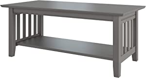 Atlantic Furniture Mission Coffee Table, Grey