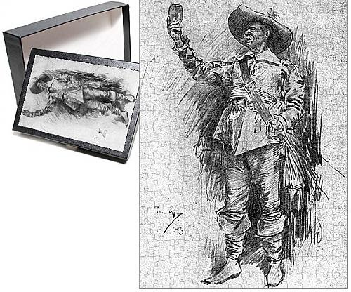 Photo Jigsaw Puzzle of Early 20th century actor in the role of a Cavalier (Restoration Theatre Costumes)