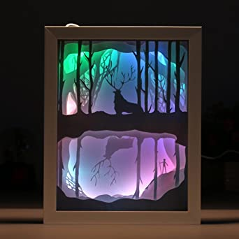Cajas de luz decorativas con corte de papel 3D para niños y ...