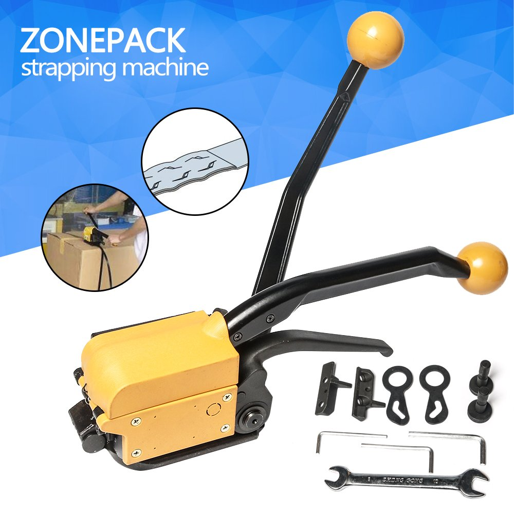 ZONEPACK Steel Strapping Tool Steel Straps Banding Sealless Combination Tool Mental Strapping Bander 1/2Inch to 3/4Inch (13mm -19mm)