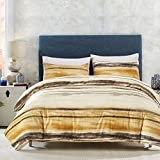 DuShow Fashion Yellow Graffiti 3 Piece Duvet Cover and Pillow Shams Bedding Set(Queen)