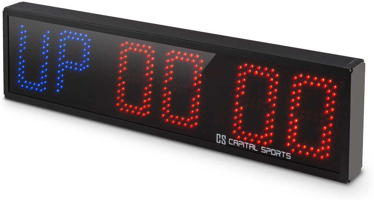 Capital Sports Timeter Temporizador Tabata Cron/ómetro Cross-Training profesional Se/ñal sonora, mando distancia, ideal entrenamiento circuito, rondas, series, memoria 14 tiempos programados, apto montaje pared