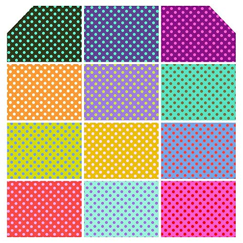 - Tula Pink All Stars Pom Pom Dots Fabric - Complete Collection Fat Quarter Bundle