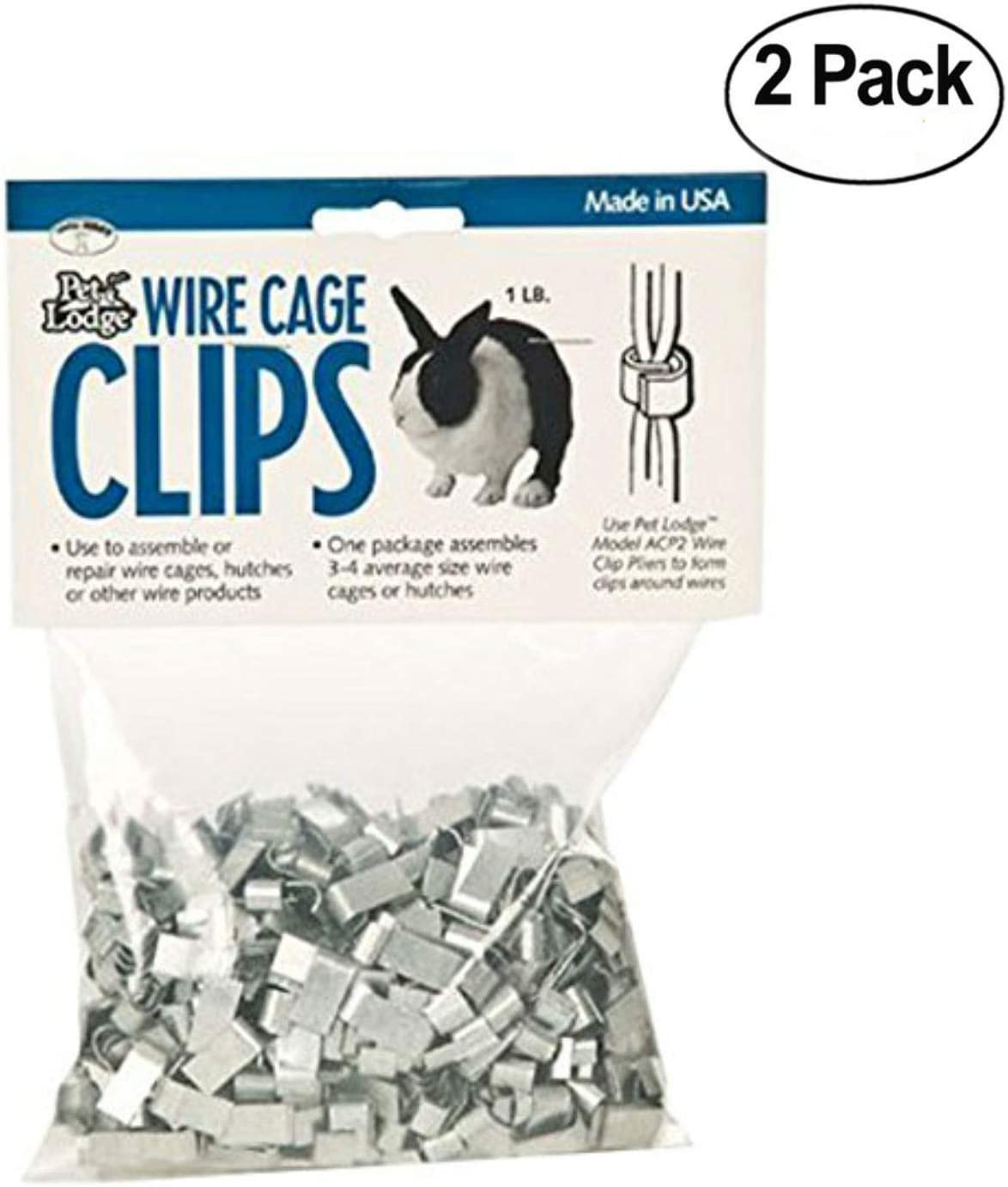 Pack of 2 Pack of 2 Miller Manufacturing ACC1 Wire Cage Clips