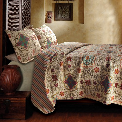 Moroccan Quilt Set - Greenland Home Esprit Spice Quilt Set, Full/Queen