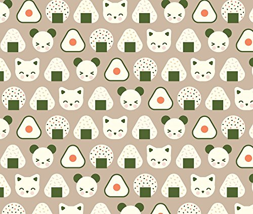 Onigiri Constitution Onigiri Coco Loco by Pinkowlet Printed on Performance Piqué Fabric by the Yard by Spoonflower