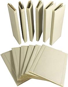 NewFerU Clothes Folder Flipfold Laundry T Shirt Folding Board Flip Fold Closet Storage Drawer Organizer Foldable Travel Space Saver Beige for Jean Sweater Blouse of Adult Kid Pack of 12 (Children)