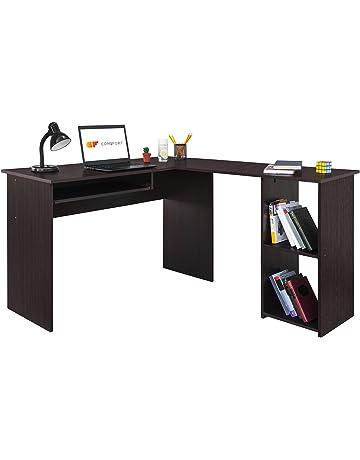 COMIFORT Escritorio, Mesa de Ordenador, Forma L, 120/140x40x75 cm