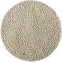 Bloomingville Hand Woven Wool Rug, Stone