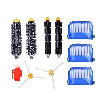 ... batidor + Filtro HEPA HEPA + Cepillo de 3 brazos Reemplazo para irobot Roomba Serie 600 610 620 630 650 660 690 Aspiradoras: Amazon.es: Electrónica