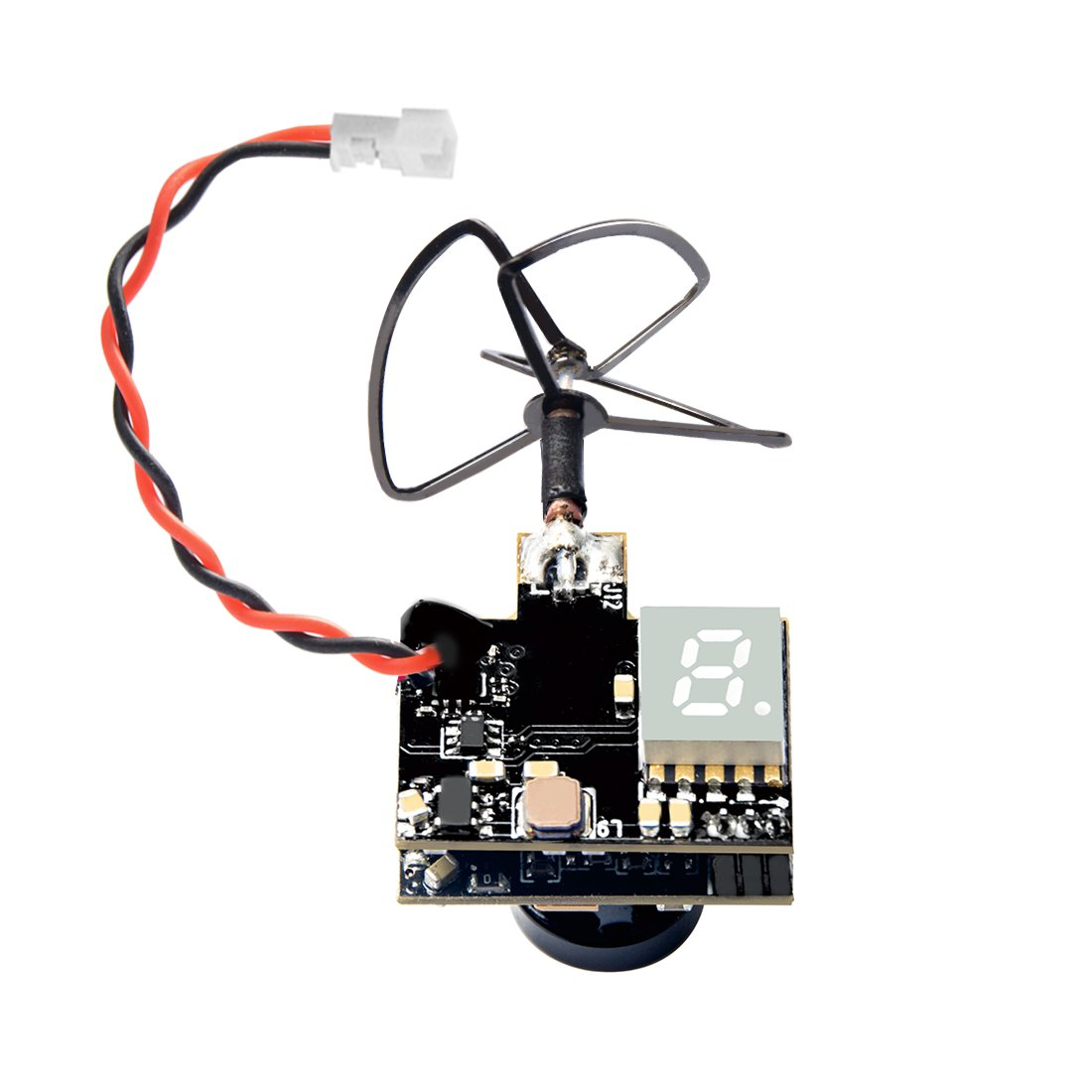 Wolfwhoop WT03 Micro FPV AIO 600TVL Camera 5.8G 25mW/50mW/200mW Adjustable Transmitter with Cloverleaf Antenna for Mini Aircraft
