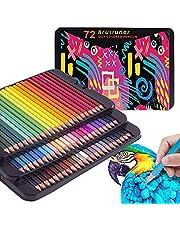Premium Artist's kleurpotloden Tin - 72/120/180 gekleurde set - perfect voor volwassen kleurboeken, studenten of kinderen schoolbenodigdheden