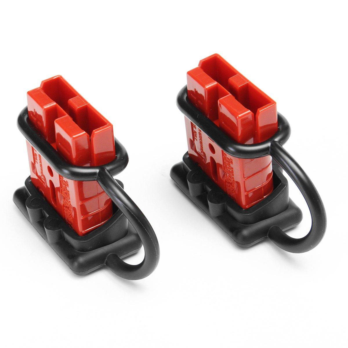 Tutoy 2Pcs 50A 600W Batterie Connexion Rapide//D/éconnexion Faisceau De C/âbles Kit Connecteur De Treuil Remorque