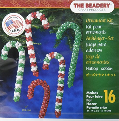 Beadery Holiday Beaded Ornament Kit, Candy Cane Assortment (Ornament Kits)