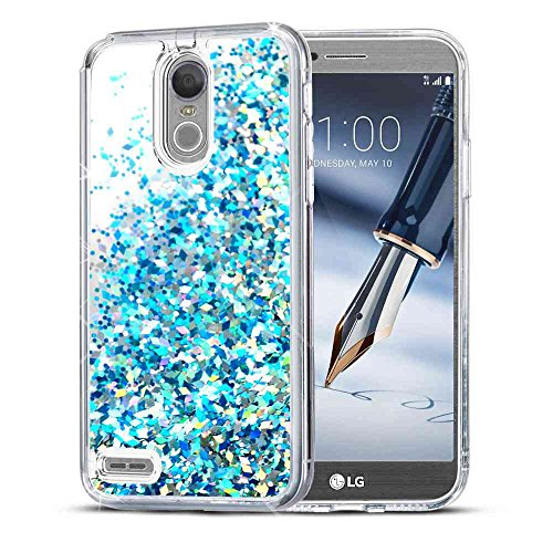 LG Stylo 3 Case, LG Stylo 3 Plus Case, SuperbBeast LG Stylo 3 Fashion Bling Liquid Floating Glitter Sparkle Girly Clear TPU Bumper Case for Girls Women Children LG - Spirit Glitters