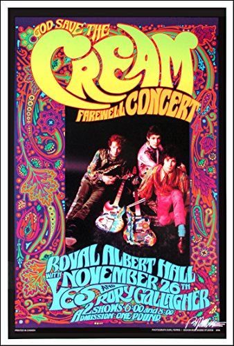 Cream Farewell Concert Poster Bob Masse Karl Ferris Signed By Masse