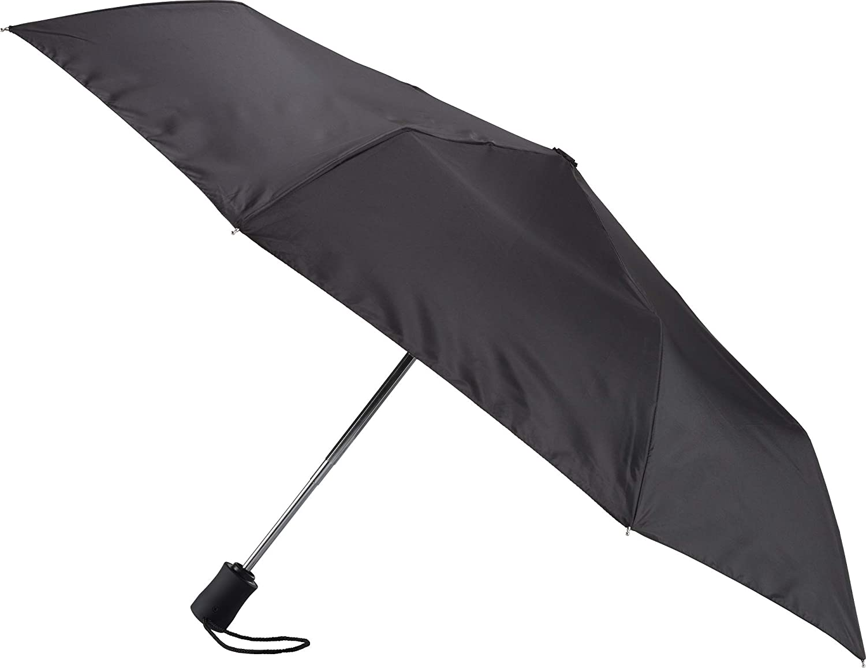 468ddecae Amazon.com: Lewis N. Clark Windproof and Water Repellent Travel Umbrella,  Black: Lewis N. Clark
