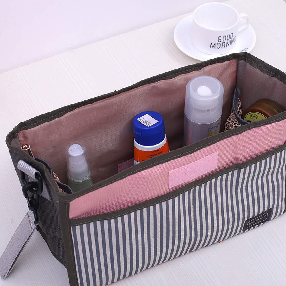 Kinderwagentasche Buggy Bag Tasche Aufbewahrung Aufh/ängetasche f/ür Getr/änke und Lebensmittel Kita Kinderwagen Grau