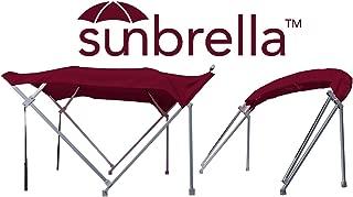 product image for Sunbrella 8' x 8' Complete Pontoon Bimini Top Kit (Burgundy)
