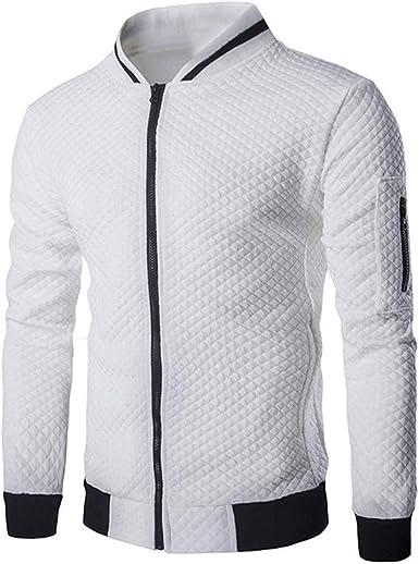 Sweat Zippé Homme Veste Sweat Shirt Sport Sweatshirt Pull Zippé Col Montant Sweet Homme sans Capuche Veste Zippée Sweat Zip Grande Taille Epais