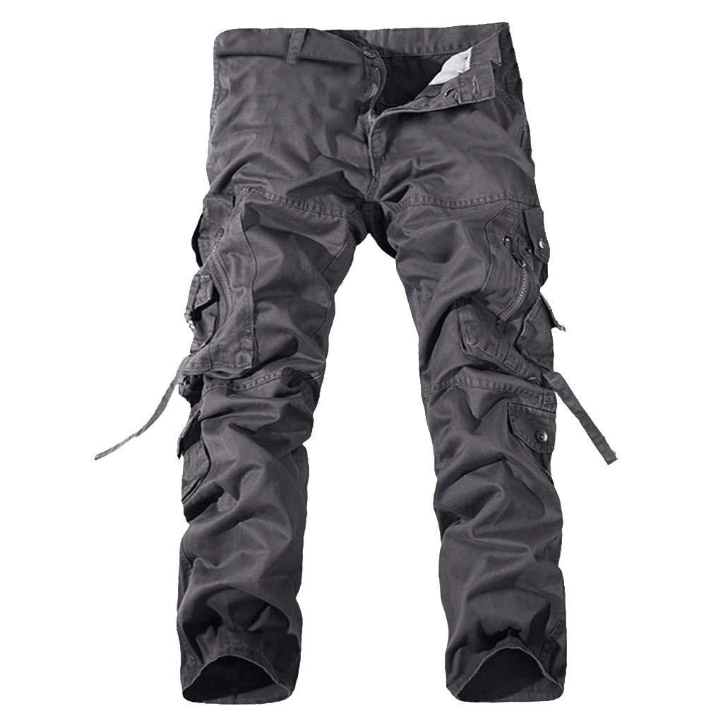 SOMESUN Traspiranti Antiabrasione Caldi Pantaloni da Trekking Autunno//Inverno Pantaloni Uomo Cargo con Tasche Laterali Tasconi Jeans Slim Fit pantaloni da Uomo Sportivi
