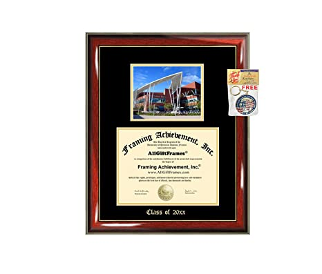 University of Minnesota Diploma Frame UMN School Campus Photo Double Matted Degree Framing Graduation Gift Bachelor Master MBA Doctorate PHD Certificate Holder Case