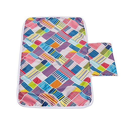 BEST NURSING BUNDLE - Extra Large Nursing Cover for Breastfeeding, Washable Reusable Bamboo Nursing Pads in a Travel Bag and Portable Pocket Diaper Changing Pad by Eternity-Baby.