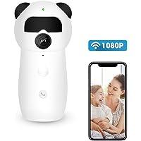 Cámara de Vigilancia HD 1080P cámara de seguridad inalámbrica Monitor de Bebé Inalámbrico camara IP wifi Interior cámara espía de vigilancia con llamada inversa,detección de movimiento,PIR alarma de detección del cuerpo humano,IR visión nocturna, Audio Bidireccional