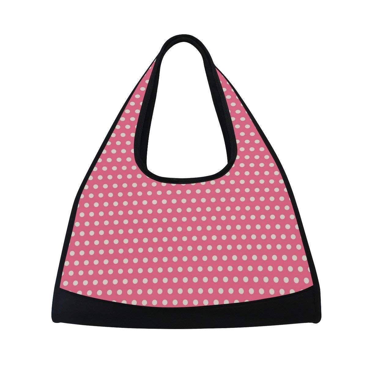 Sport Gym Bag Valentine's Dots Canvas Travel Duffel Bag