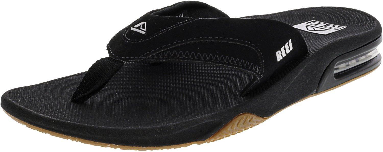 Reef Men's Black and Brown Fanning Sandals 10